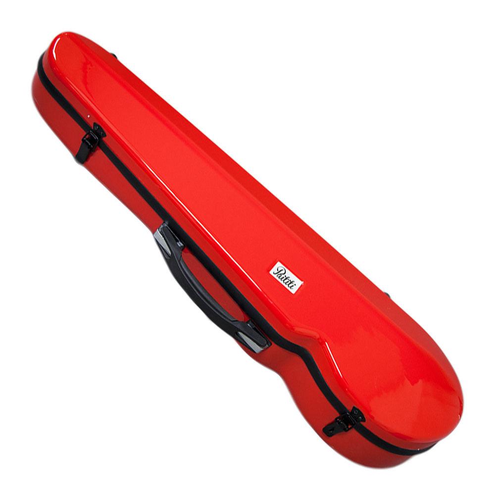 PAITITI Triangular Violin Shaped Full Size Super Light Red Fiber Glass Case