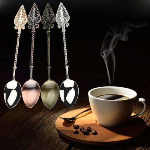 Stainless Retro Coffee Spoon Sugar Tea Dessert Cake Cutlery Kitchen Tableware UK