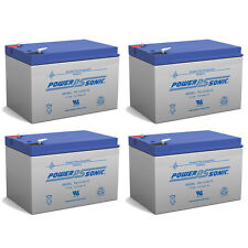 Power-Sonic 12V 12AH F2 Battery for Wheelchair Scooter EV Mobility - 4 Pack
