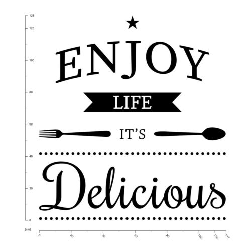 Enjoy Life Food Quote Wall Sticker WS-46115