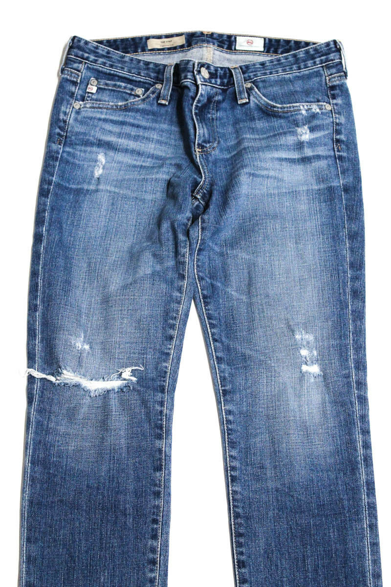 AG Adriano goldschmied Womens Jeans bluee Cigarette Leg Distressed 28  250