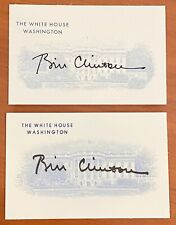 RARE President Bill Clinton autograph card 2 variations only for White House