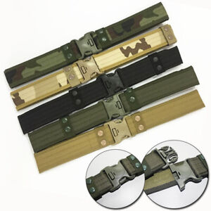 Men/'s Army Military Belt Tactical Outdoor Waistband Training Hunting Nylon Belt