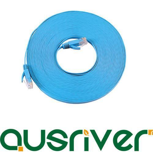 10M Blue Ultra Thin CAT6 Ethernet LAN Network Cable 100M//1000Mbps