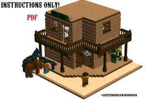 Lego-Custom-Modular-Wild-West-Saloon-and-Hotel-INSTRUCTIONS-ONLY