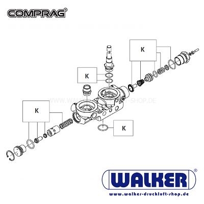 Comprag A1510 / Ar1510 / Ard1510 Wartungs-kit Kombiblock Um Jeden Preis