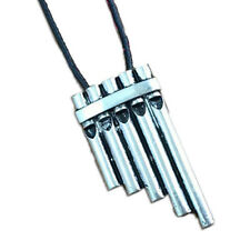 vintage Peter Pan Magic Flute Rope Leather chain Necklace