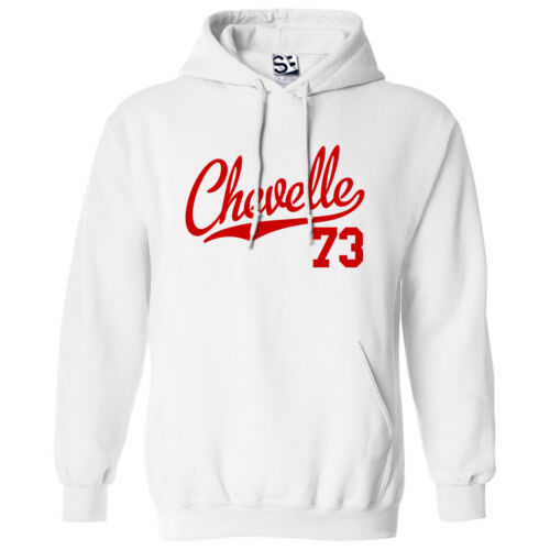 Hooded 1973 Muscle Car Sweatshirt All Colors Chevelle 73 Script /& Tail HOODIE