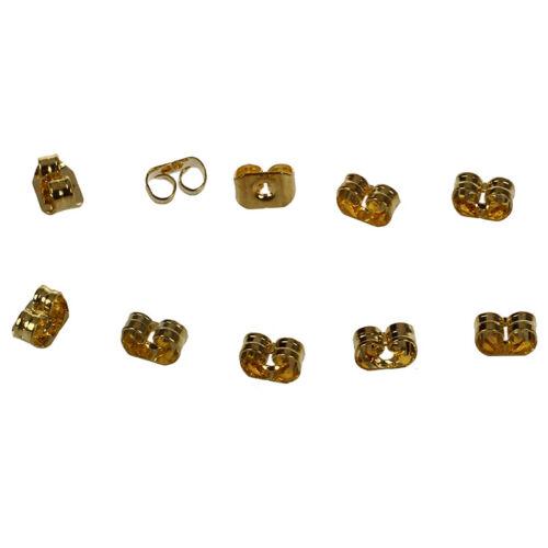 5 Pairs Ear Nuts W1G3 14K Gold Filled Earring Backs