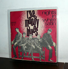 "NIGHTS IN  WHITE SATIN-THE MOODY BLUES 7"" ITALY '68 (HO DIFESO IL MIO AMORE)"