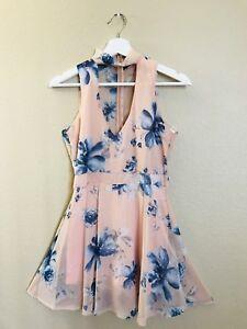 Pink-Floral-Romper-Dress-NWT
