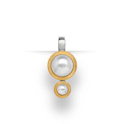Bastian Inverun Kettenanhänger 23261 925 Sterlingsilber teilvergoldet Perle | eBay
