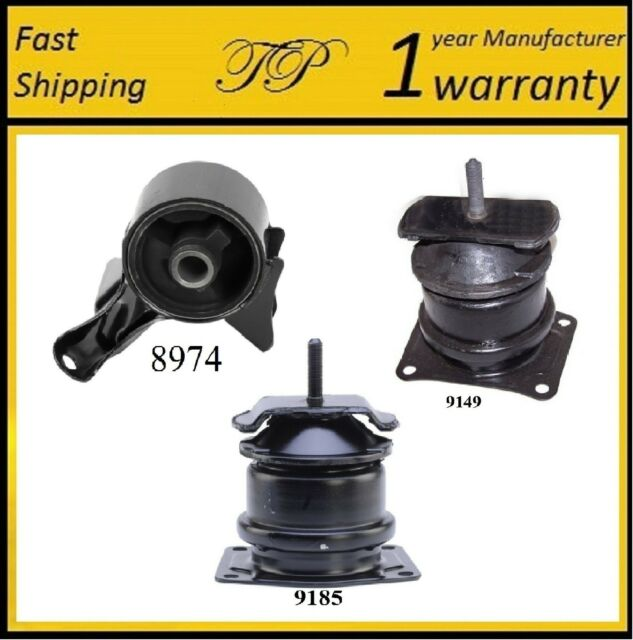 3 PCS FRONT & REAR MOTOR MOUNT FOR 1999-2003 ACURA TL 3.2L
