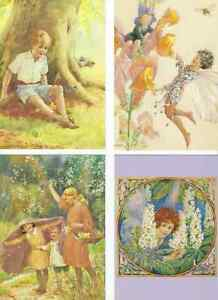 SET-OF-FOUR-MEDICI-COLLECTABLE-POSTCARDS-BY-MARGARET-TARRANT