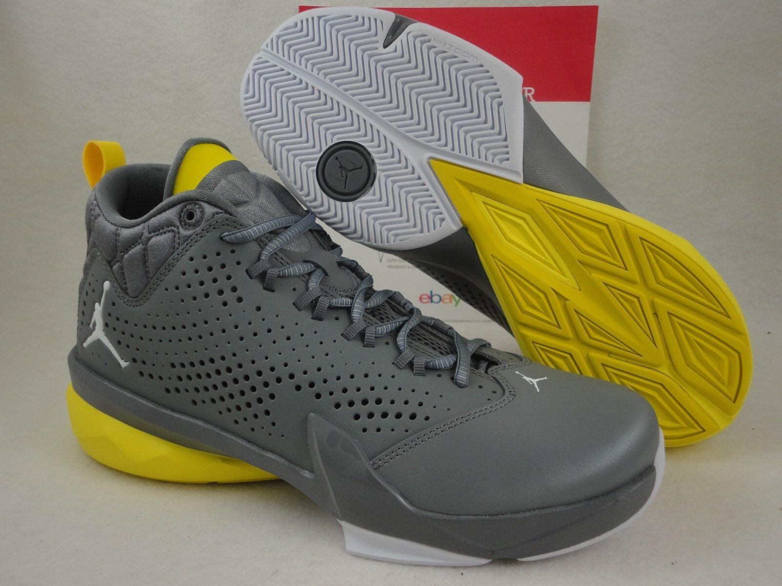 Nike Jordan Flight Time 14,5, gris / amarillo 14 10 diseño retro Lunarlon, SZ 10 14 e309cf
