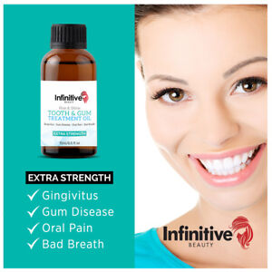 EXTRA STRENGTH Tooth Gum Bad Breath Treatment Oil Teeth Dental Health Natural