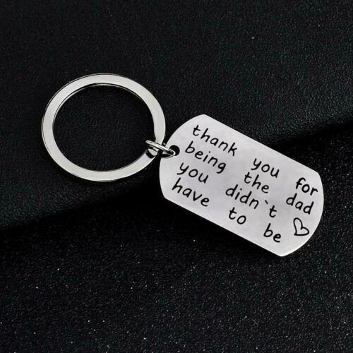 Family Charms Keyring Fathers Day Gifts For Dad Keychain Pendants Jewelry LB
