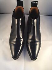 Women's Zara  Black Pointed  Chelsea Boots With Gold Trimmed Heel Size 38 size 5