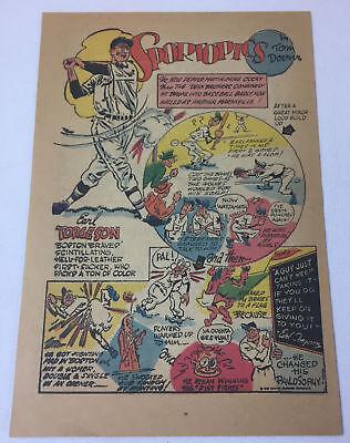 Ehrlichkeit 1949 Earl Torgeson Sportopics Cartoon Seite ~ Boston Braves Weitere Ballsportarten