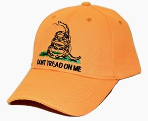 9317f752 Don't Tread on Me Rattlesnake Gadsden Flag Yellow Adjustable ...