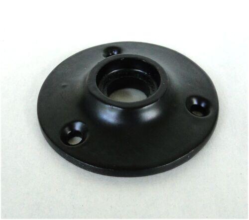 Small Door Rosette of Cast Iron w Black Base for Porcelain Hardware Renovators