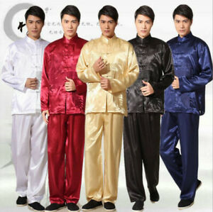 Men Kung Fu Performance Outfits Uniforms Thin Costume Martial Arts Clothing sets