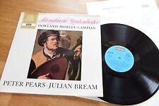PEARS & BREAM Lute Songs Dowland Morley Campian LP DECCA SAWD 9912-B
