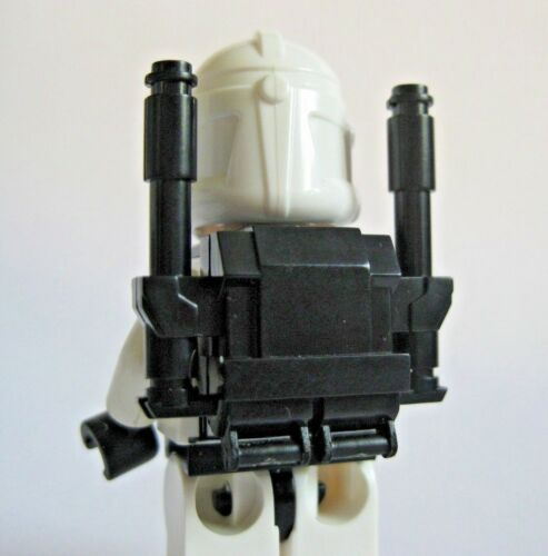 Custom CLONE COMMANDO Heavy Backpack (Black) for Clone Star Wars Minifigures