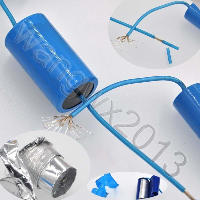 2x 0.47uF 400V Audio Speaker Frequency Divider Crossover Non-Polarity Capacitor