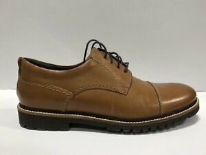 Rockport-Marshall-Cap-Toe-Mens-Oxford-Dress-Shoes-Brown-US11-M