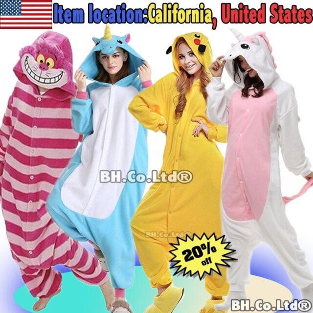 92cca6de8b2 Unisex Adult Kids Kigurumi Pajamas Ones1 Cosplay Costume Animal Sleepwear