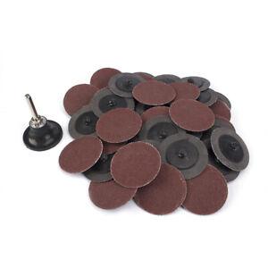 "50Pcs 2/"" Roloc Quick Change Discs Sanding Pads Type R Roll Lock Polishing Tool"