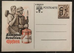 Mint-Germany-Postcard-Postal-Stationary-Cover-Professions-sacrifice-fight-work