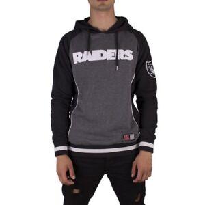 ajuste clásico 6477d bc7e5 Detalles de Sudadera capucha Nfl Oakland Raiders Team Handly Oth Fashion  Majestic Carbón Hom