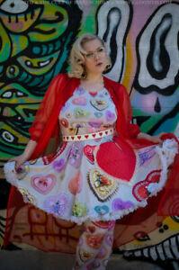 Gloomth Valentine Harajuku Doll Heart Candy Dress Sizes XS to 5XL Pink Kawaii