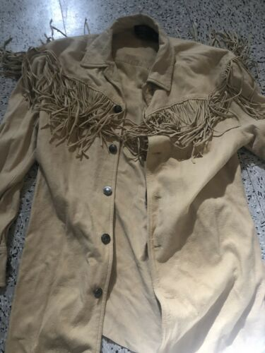ralph lauren Coin Suede Leather Fringe Jacket West