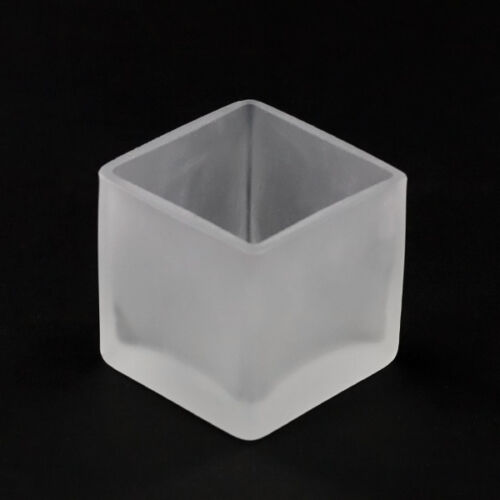 24 elegant wedding table event frosted glass tealight candle holder favor 5cm sq
