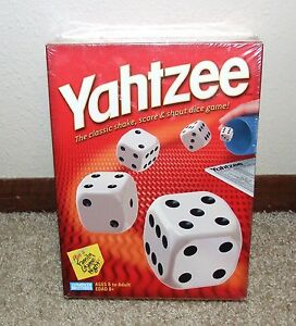 YAHTZEE-The-Classic-Dice-Game-NEW-sealed-package-Hasbro-2004