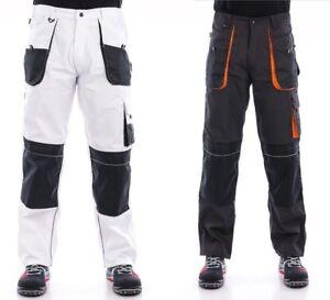 UK-Mens-Work-Trousers-Heavy-Duty-Pants-Knee-Pad-Pocket-Cargo-Combat-Decorators