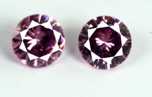 Loose-Gemstone-Matching-Pair-5-Ct-Pink-Sapphire-Natural-Round-AGSL-Certified