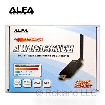 Alfa AWUS036NEH 802 11n WIRELESS-N USB adapter 1w Wi-Fi 4718050300242 | eBay