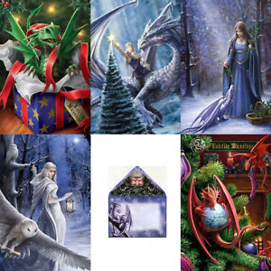 Anne Stokes Yule Cards - Yuletide Greetings - Eco Friendly Christmas Cards