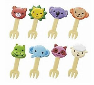 Torune-Lunch-Decoration-Bento-Accessory-3D-Food-Forks-Cute-Animal-8pcs