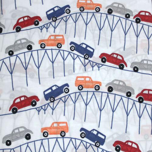 new Pottery Barn Kids Landon Cars Sheet Set twin navy maroon orange gray