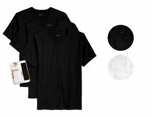 Hugo-Boss-Men-039-s-3-Pack-Pure-Cotton-Regular-Fit-V-Neck-Shirt-T-Shirt-50325386