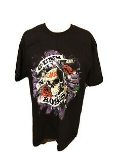 Nuevo 2016 Gira De Reunión Guns N Roses Camisa Negra Talla Grande Slash Ebay