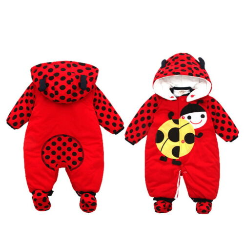 Newborn Jumpsuit Outfit Hoody Coat Winter Infant Toddler Clothing Bodysuit