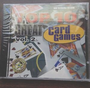 Top 10 Great Card Games Vol. 2, PC Game, Windows 95/98, Jewel Case