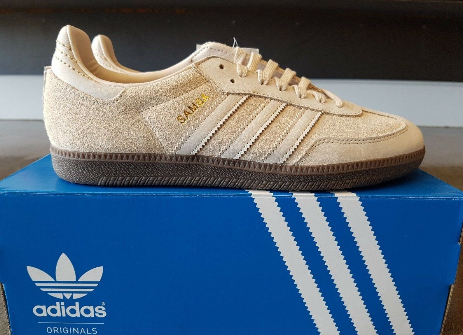 NEW IN THE BOX ADIDAS SAMBA FB CQ2090 LINEN SNEAKER FOR MEN