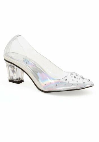 Ellie Shoes 201-ANASTASIA Children/'s 2 Inch Heel Clear Slipper